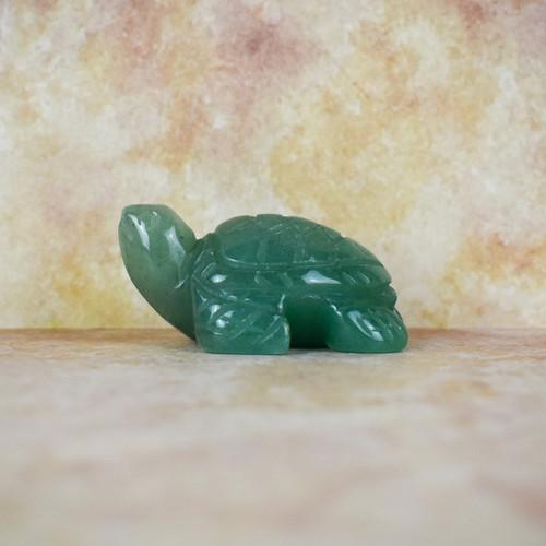 Hand Carved Turtle - Green Aventurine