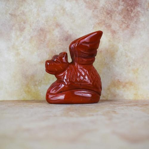 Hand Carved Dragon - Red Jasper