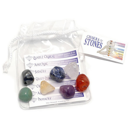 Chakra Tumblestone Set in Organza Bag