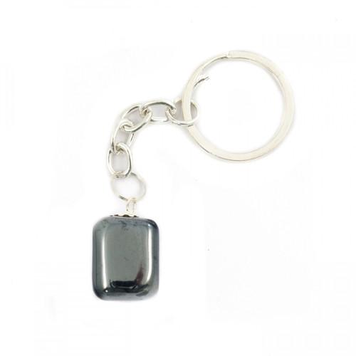 Tumblestone Keyring - Hematite