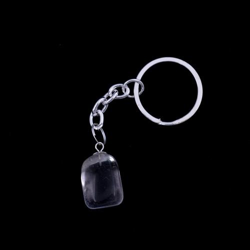 Tumblestone Keyring - Clear Quartz