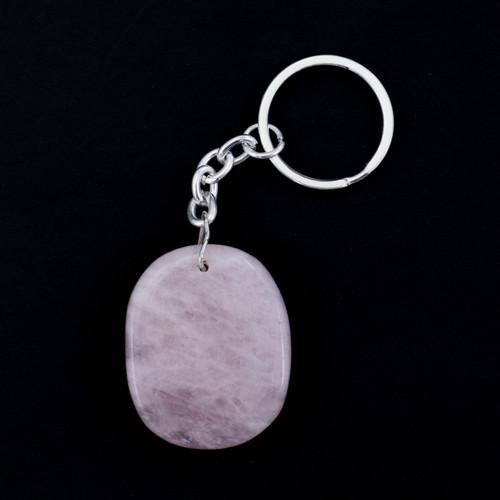 Crystal Keyring - Rose Quartz
