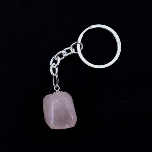 Tumblestone Keyring - Rose Quartz