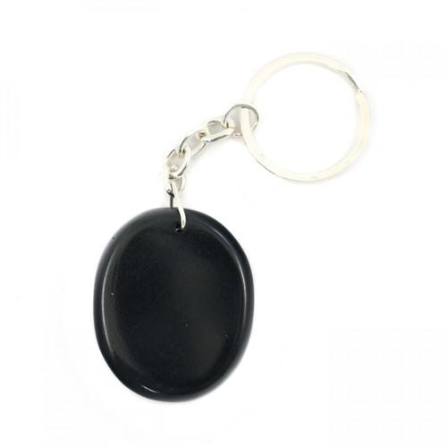 Crystal Keyring - Black Jasper