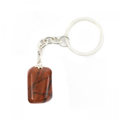 Tumblestone Keyring - Red Jasper