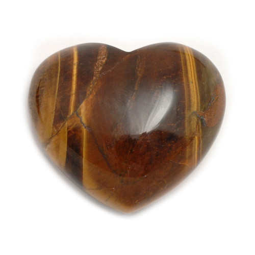 Golden Tigers Eye Crystal Heart