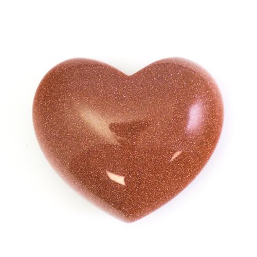 Brown Goldstone Crystal Heart