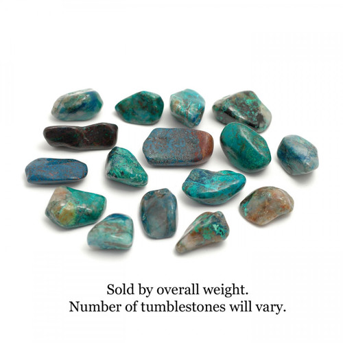 100g Bag of Chrysocolla Tumblestones
