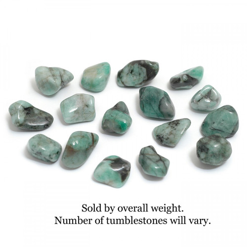 100g Bag of Emerald Tumblestones (Brazil)