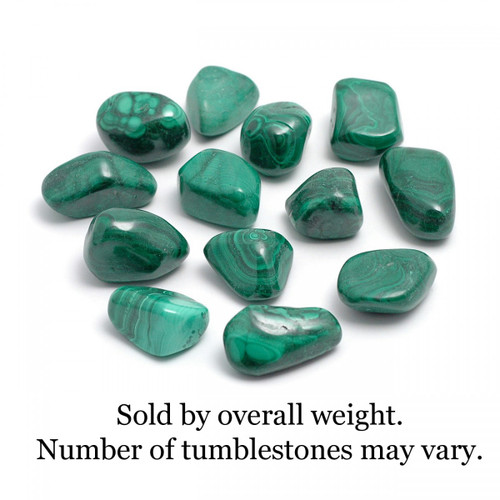250g Bag of Malachite Tumblestones (Zaire)