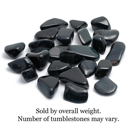 250g Bag of Blue Tiger's Eye Tumblestones (South Africa)