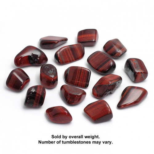 250g Bag of Red Tigers Eye Tumblestones (South Africa)