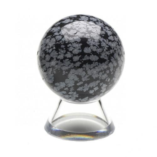 Sphere - Snowflake Obsidian (35mm)