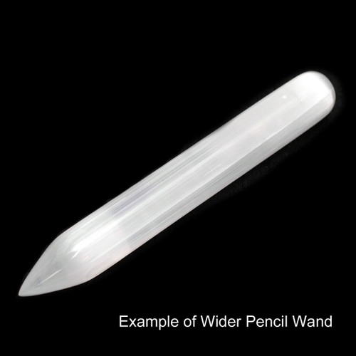 Pencil Wand - Selenite (5 1/2 inches)