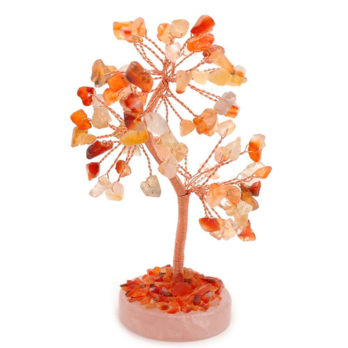 Gem Tree - Carnelian (Round Base)