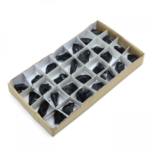 Rough Black Obsidian Tray (24 pieces)