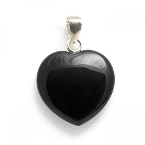 Heart Pendant - Black Obsidian