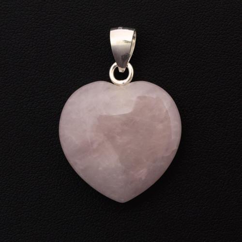 Heart Pendant - Rose Quartz