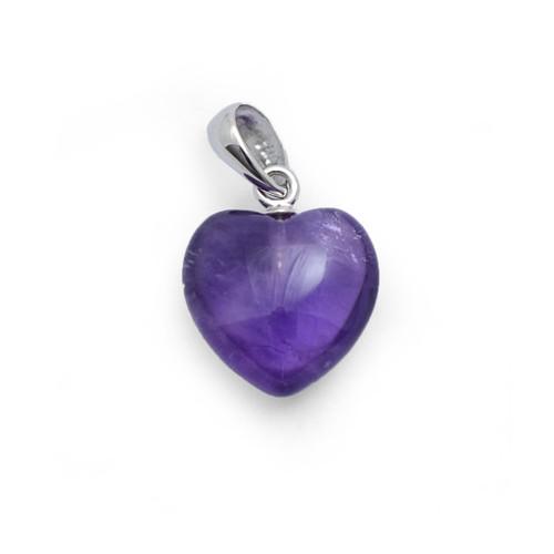 Small Heart Pendant - Amethyst
