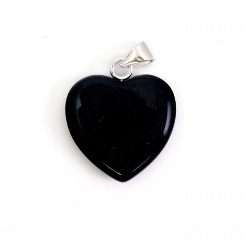 Heart Pendant - Dark Blue Goldstone