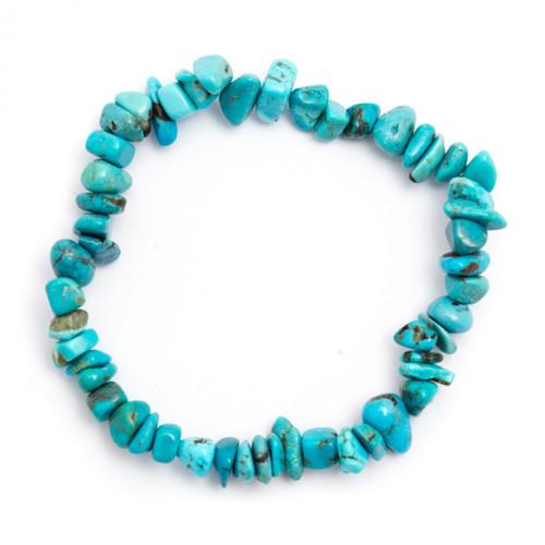 Elasticated Chip Bracelet - Turquoise