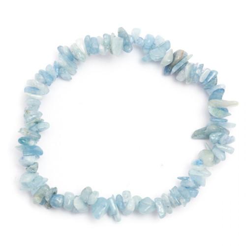 Elasticated Chip Bracelet - Aquamarine