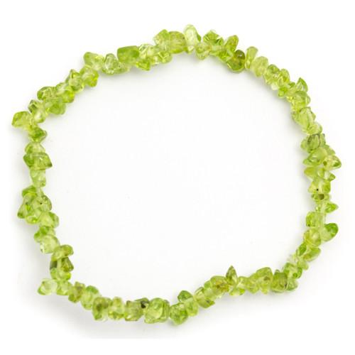 Elasticated Chip Bracelet - Peridot