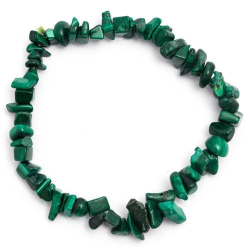 Elasticated Chip Bracelet - Malachite