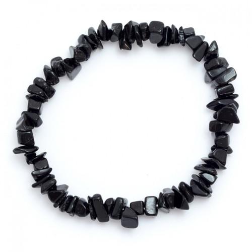 Elasticated Chip Bracelet - Black Tourmaline