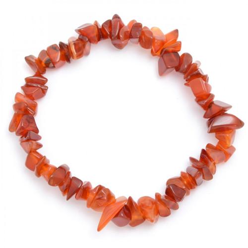 Elasticated Chip Bracelet - Carnelian