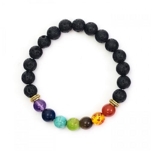 Chakra Bracelet - Lava Beads