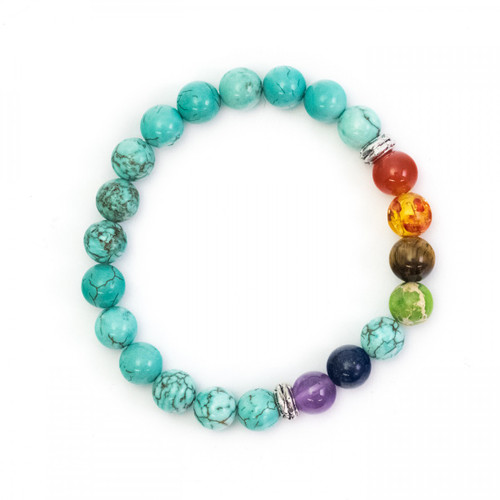 Chakra Bracelet - Reconstituted Turquoise