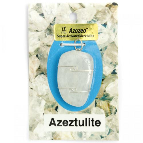 Wire Wrap Silver Pendant - Azeztulite