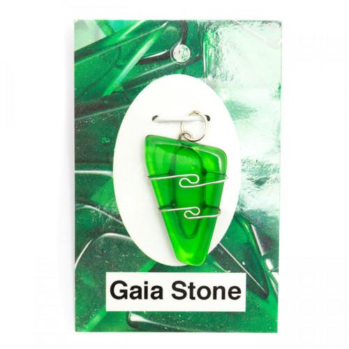 Wire Wrap Silver Pendant - Gaia Stone