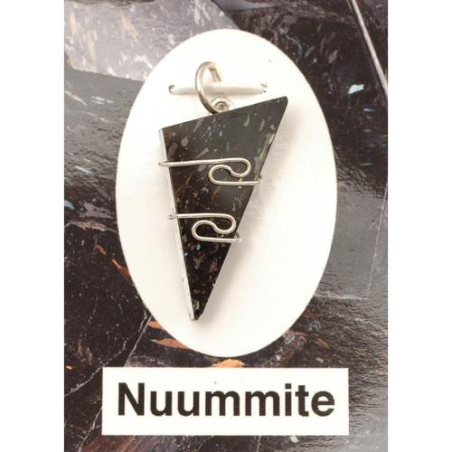 Wire Wrap Silver Pendant - Nuummite