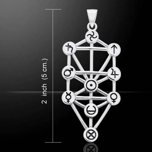 Tree Of Life (Kabbalah) Pendant (Sterling Silver)