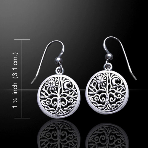 Magick & Witch Tree of Life Earrings (Sterling Silver)
