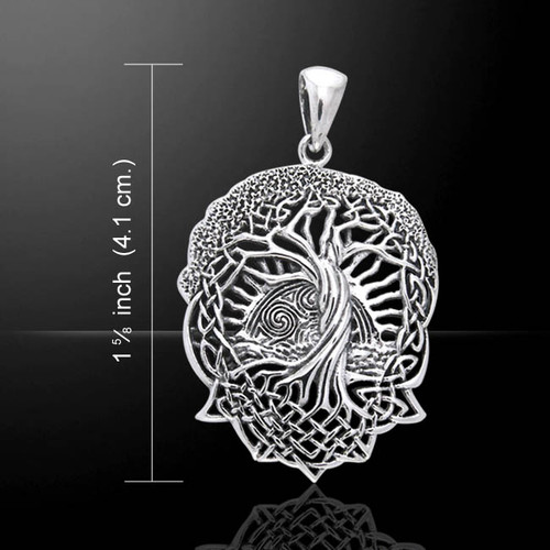 Celtic Knotwork Tree of Life Silver Pendant (Sterling Silver)