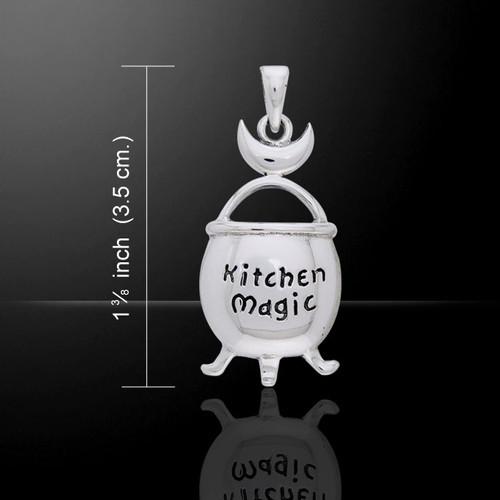 Kitchen Magic Cauldron Pendant (Sterling Silver)
