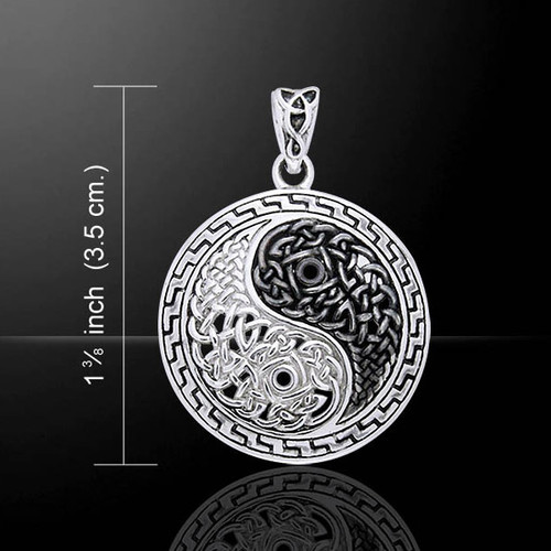 Celtic Knotwork Yin Yang Pendant (Sterling Silver)