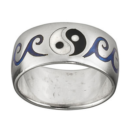 Yin Yang Ring (Sterling Silver)