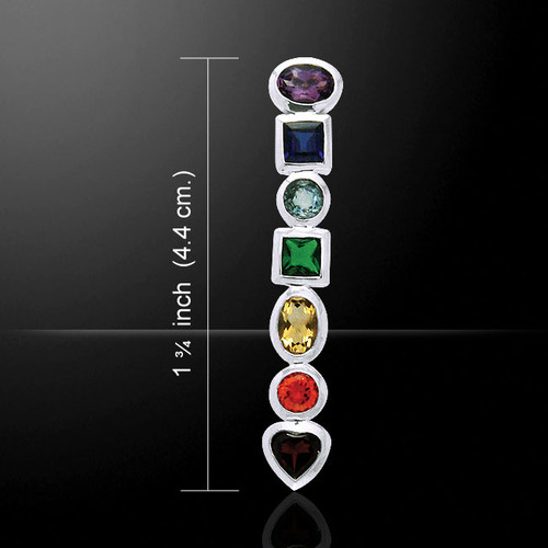 Chakra Pendant with Gems (Sterling Silver)
