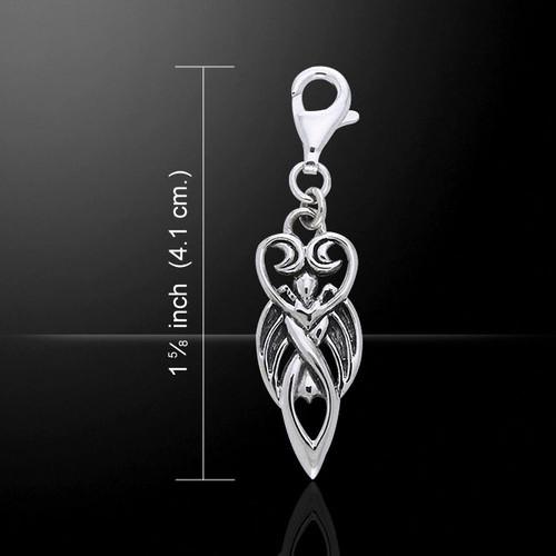 Goddess Clip Charm (Sterling Silver)