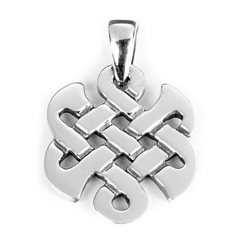 Eternal Knot Pendant (Sterling Silver)