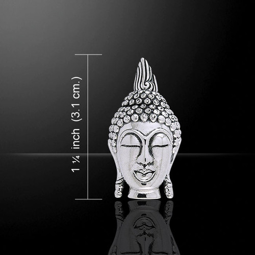 Buddha Face Pendant (Sterling Silver)