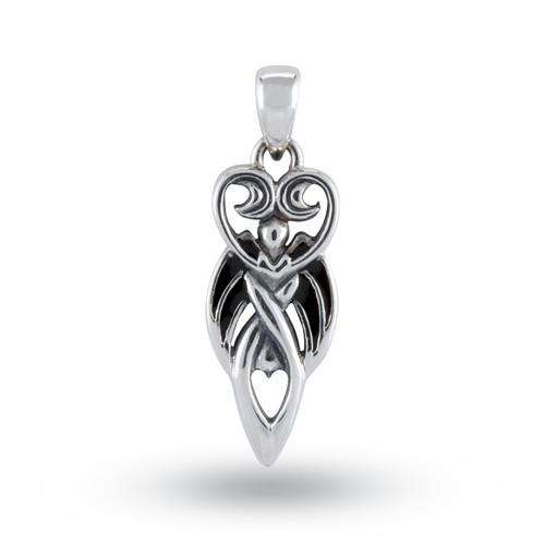 Winged Goddess Pendant (Sterling Silver)