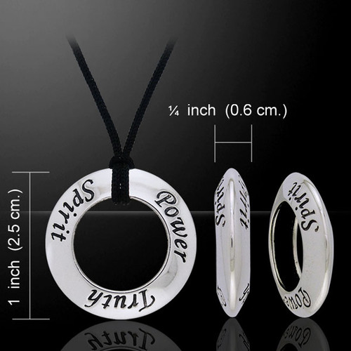 Spirit Power Truth Silver Ring and Cord Set (Sterling Silver)
