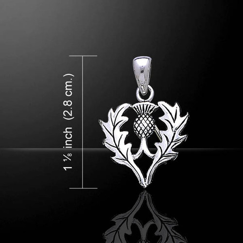 Celtic Thistle Silver Pendant (Sterling Silver)