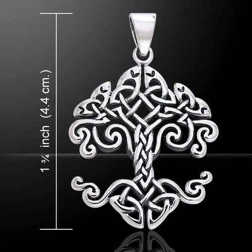 Celtic Knotwork Tree of Life Pendant (Sterling Silver)