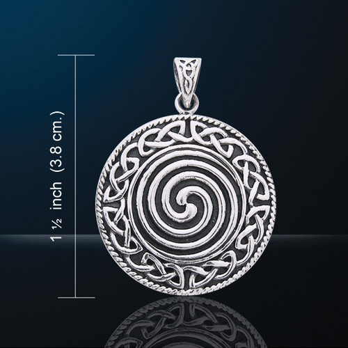 Celtic Sacred Spiral Pendant (Silver Plated)